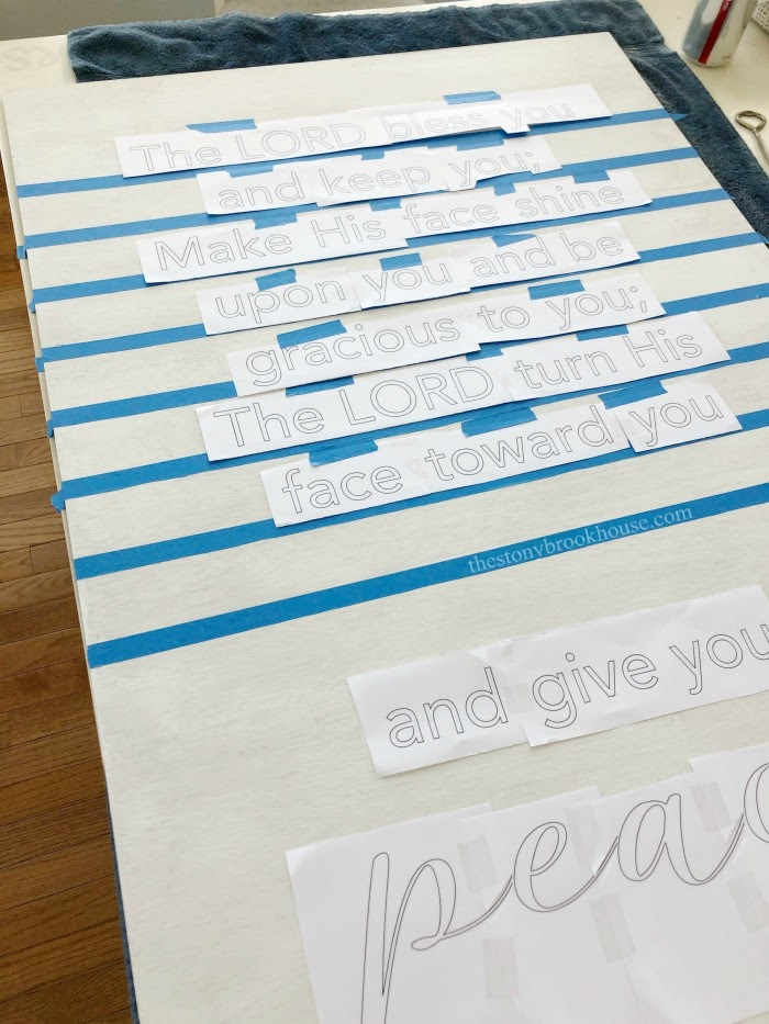 phrases taped ready to trace