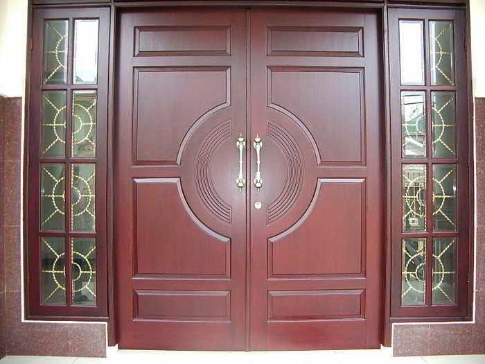 Model Pintu Minimalis Jati Buka Dua