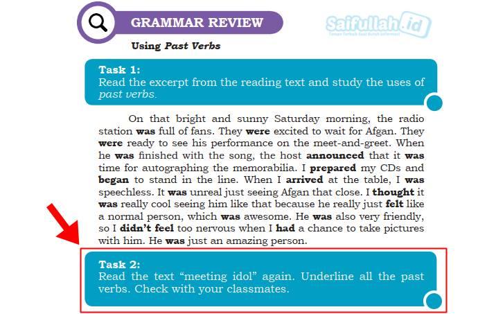 Pembahasan Soal Bahasa Inggris Chapter 8: Task 2 (Page 115) Kelas 10