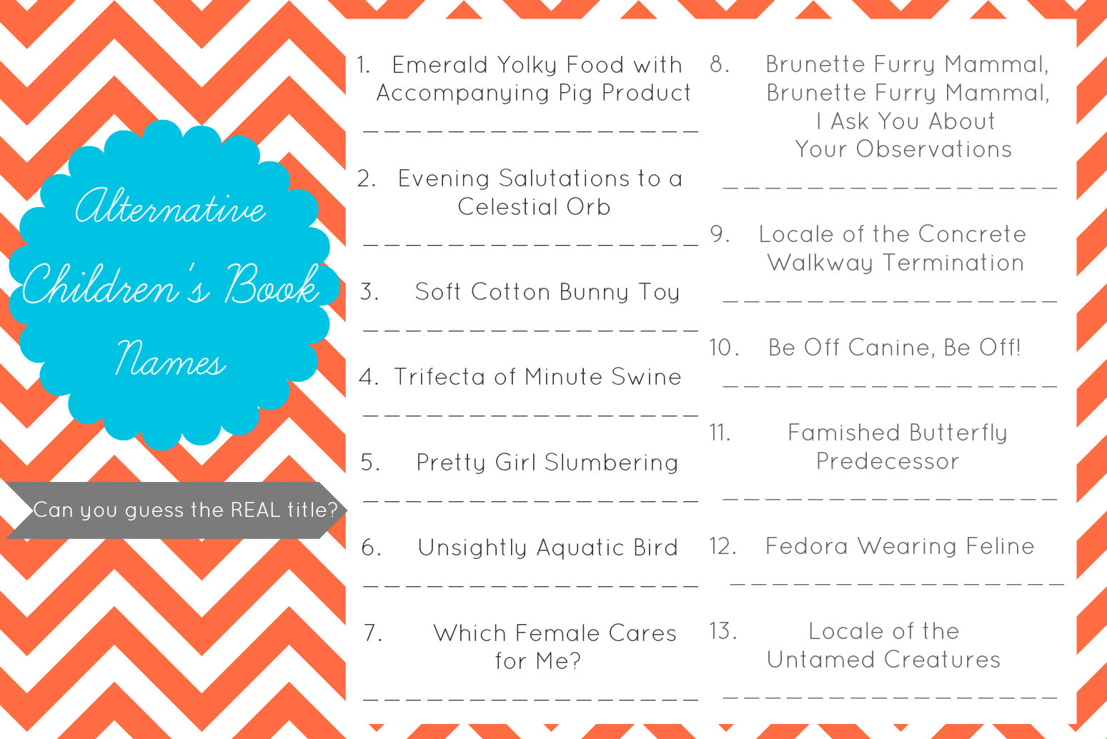 Lizalou Loves Baby Shower Game Printables