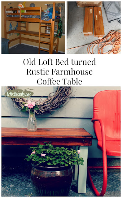 http://www.artisbeauty.net/2016/08/old-kids-loft-bed-turned-rustic-vintage.html
