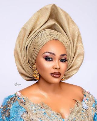 Mercy Aigbe asoebi styles
