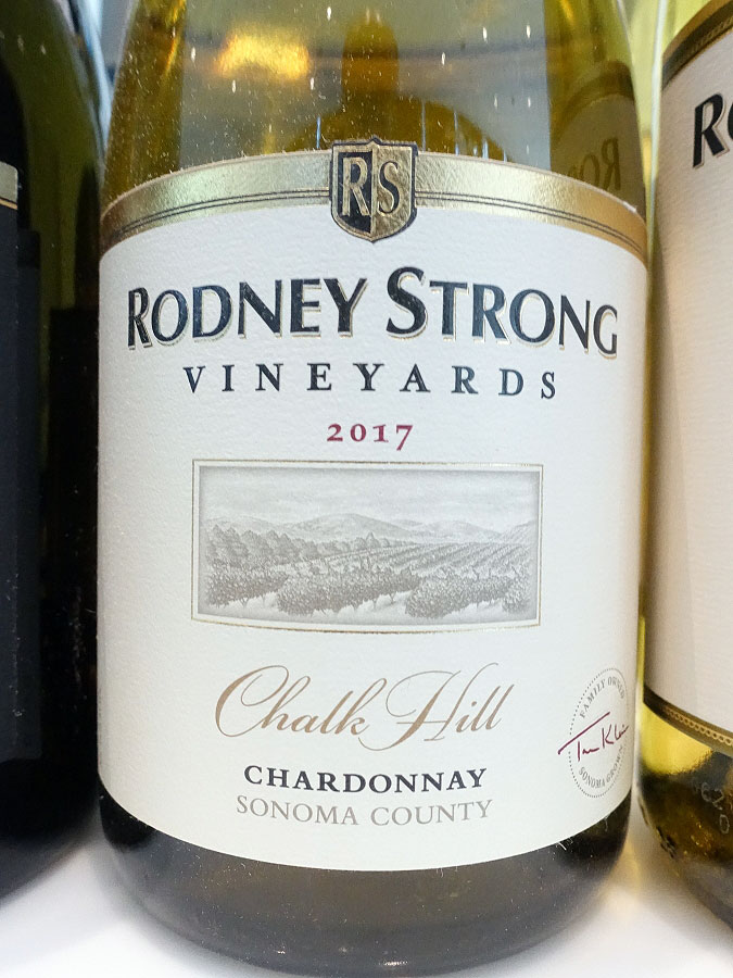 Rodney Strong Chalk Hill Chardonnay 2017 (90 pts)