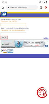 2. Langkah berikutnya silakan masukan USER ID dan PIN kalian. Saya sendiri mendaftar rekening BCA lewat BCA Mobile dan mendapatkan user id dengan kombinasi nama +tanggal lahir+tahun lahir yang dikirimkan lewat email serta untuk pin sama seperti PIN ATM kita. Jika sudah klik Login