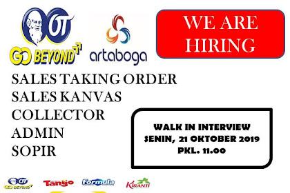 WALK INTERVIEW PT ARTA BOGA CEMERLANG Tasikmalaya