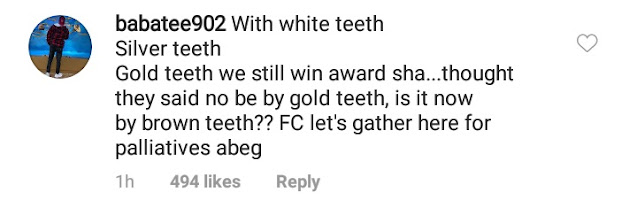 'Davido Collected White Teeth While His Mates Collected Awards' - Check Out What His Fans Wrote