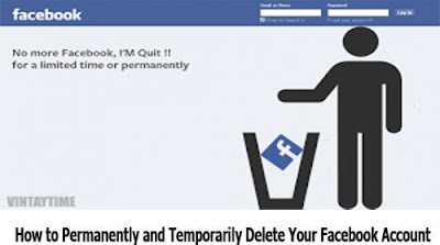 How to Permanently and Temporarily Delete Your Facebook Account