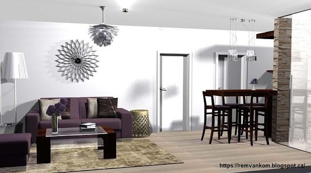Второй вариант дизайн проекта перепланировки стильный и строгий