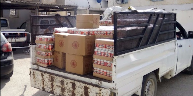 المهدية : ضبط شاحنة محمّلة بعلب الجعة لبيعها خلسة