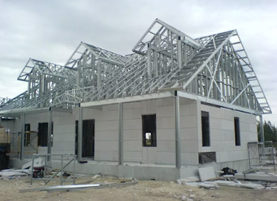 model atap rumah minimalis desain baja ringan