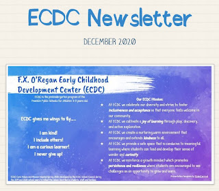 The ECDC December Newsletter is now posted