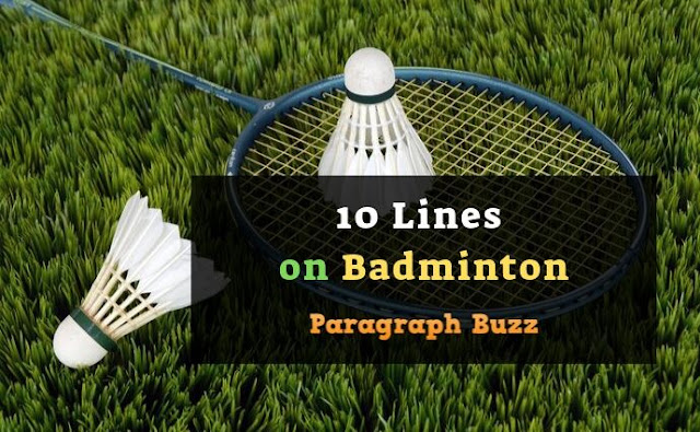 10 Lines on Badminton