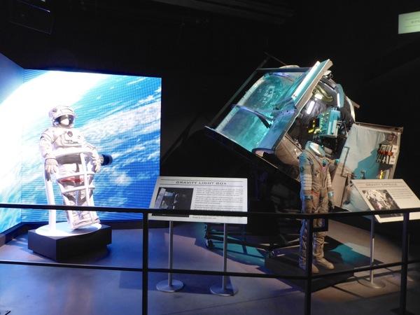 Gravity spacesuits Soyuz capsule prop