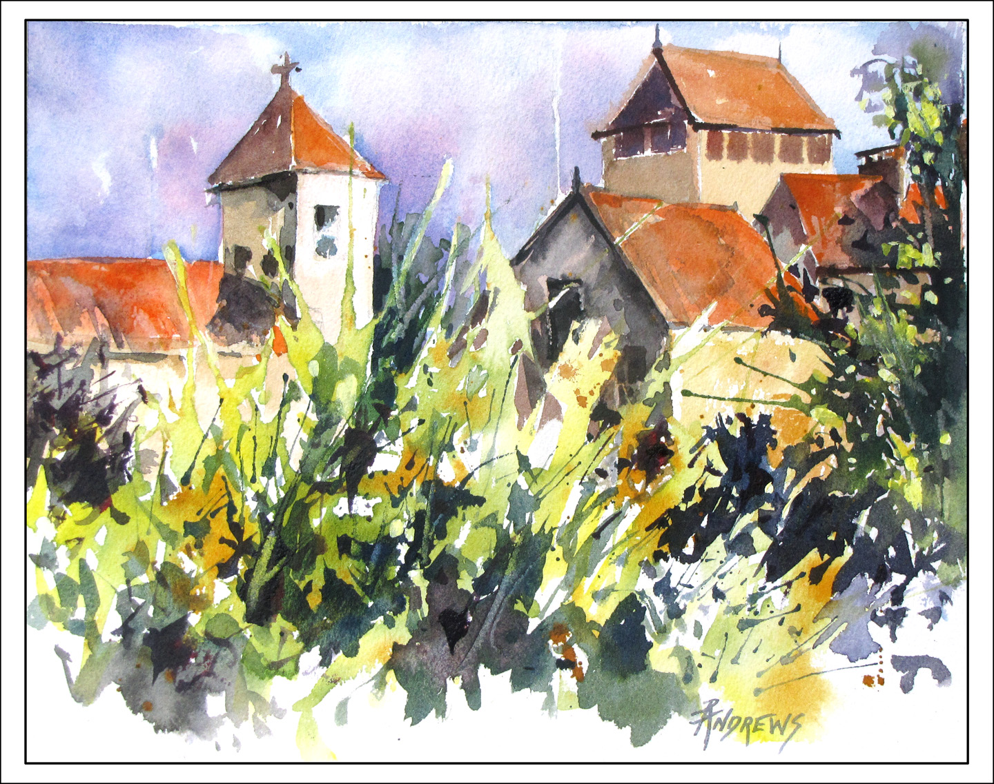 Watercolor artist in texas - Just A Small Watercolor Study Of The Village Of Frayssinet In France This Is The Area We Will Be Going In May For My Pastel Watercolor Workshop What Fun