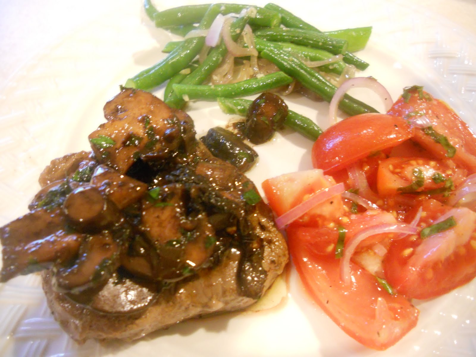 Steak with Mushroom Sauce - Just One Donna