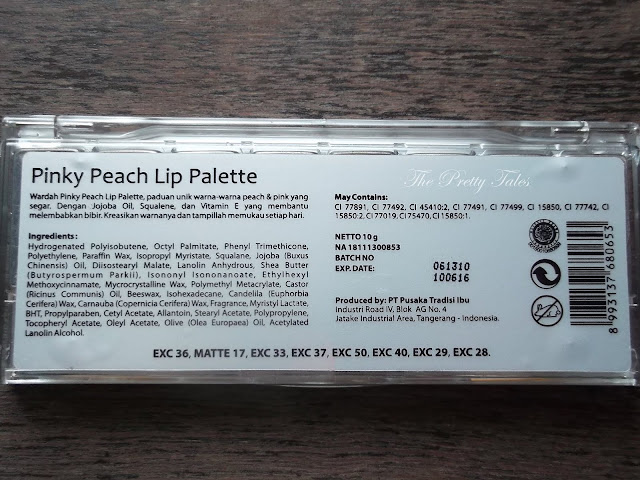 wardah lip palette pinky peach review