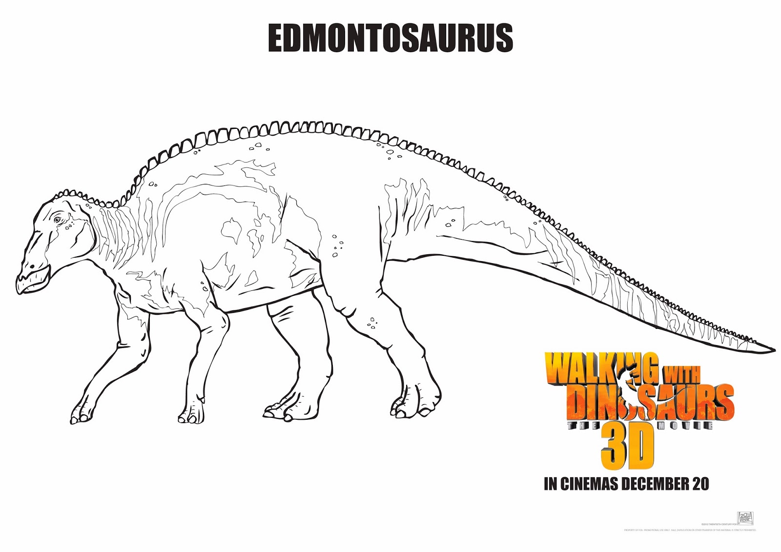 walking with dinosaurs coloring pages - photo #17