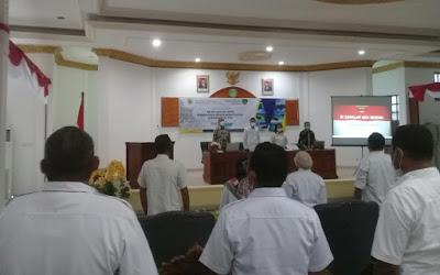 Suasana Seminar Akhir Ripparda Kota Tual di Aula Balai Kota Tual, Rabu (23/06/2021). Foto: Nick Renleuw