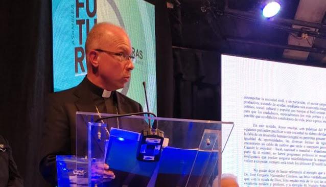 Monseñor Ricardo Barreto en la Asamblea de FEDECAMARAS julio de 2021
