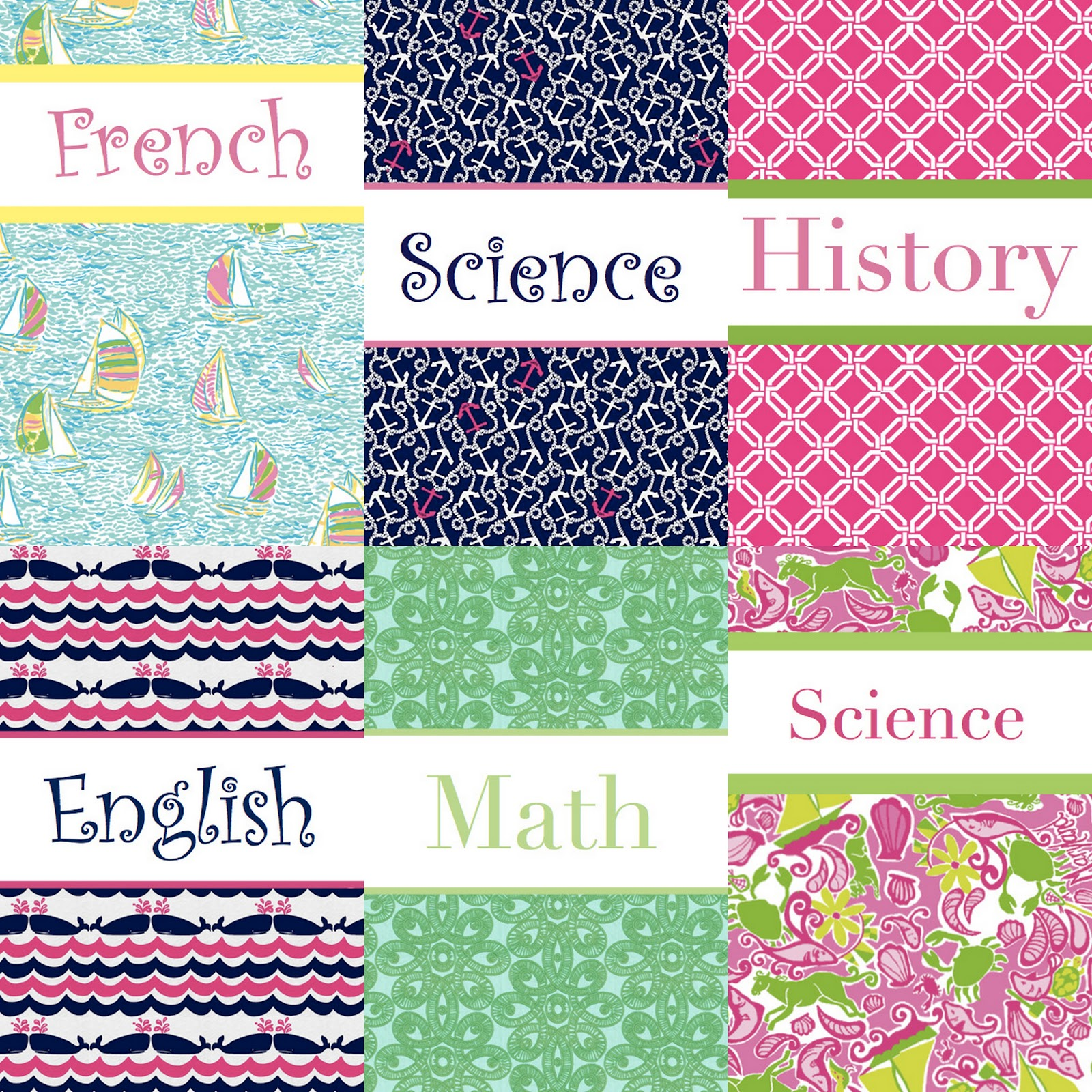 Preppy binders diy preppy binder covers for Cool binder cover templates