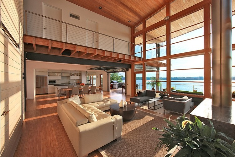 "Modern architecturally designed ""green"" Chesapeake Bay - Gardner and Mohr - found on Hello Lovely Studio"