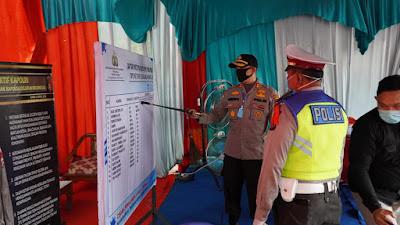 Kapolres Pelalawan dan Jajaran Tinjau Pos Check Point PSBB