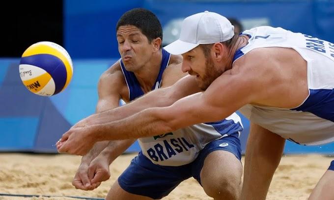 Paraibano Álvaro Filho perde para norte-americanos no vôlei de praia