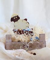 """Figura de chocolate """"Ovejita"""" - Mona de Pascua V"""