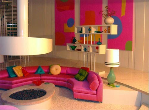 Pink Living Room With Dark Background Another Way To Decorate Is Opt For Blue Seems Be A Great Combination