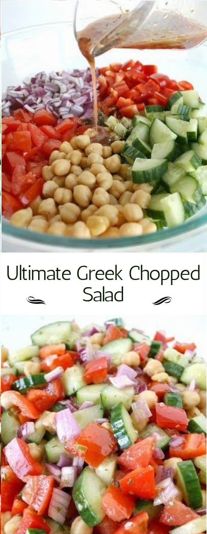 Ultimate Greek Chopped Salad #saladrecipe #easy