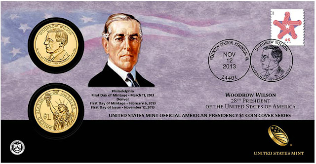 President Woodrow Wilson 2013 One Dollar Coin Cover