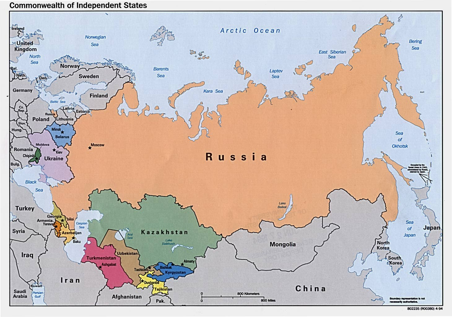 Map Of Russia Political Regional Map Of Russia Country