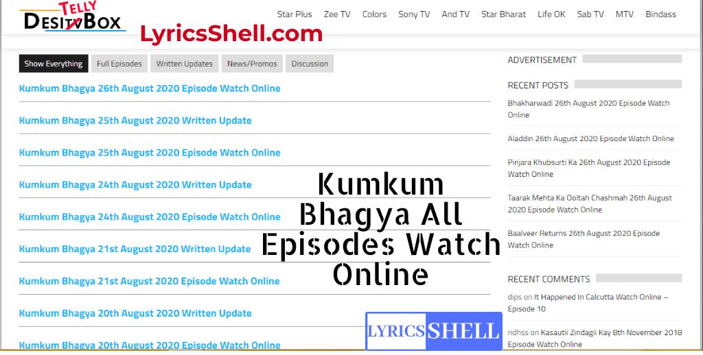 Kumkum Bhagya DesiTVBox Kumkum Bhagya online on DesiTVBox