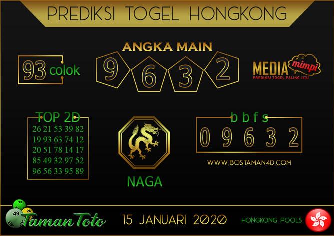 Prediksi Togel HONGKONG TAMAN TOTO 15 JANUARI 2020