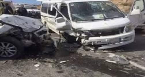 إصابة شخصين في تصادم سيارتين في سوهاج