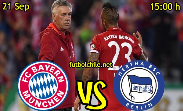 Ver stream hd youtube facebook movil android ios iphone table ipad windows mac linux resultado en vivo, online: Bayern Munich vs Hertha Berliner