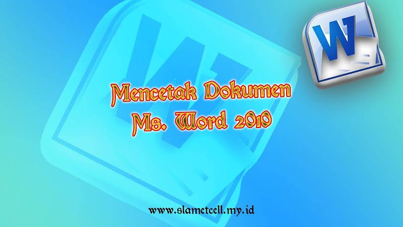 print dokumen ms. word 2010