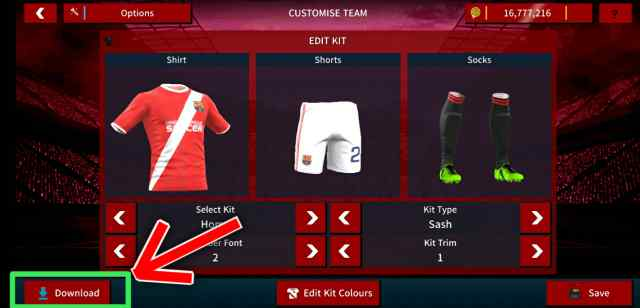 Cara Mengganti Jersey/KIT Tim di Dream League Soccer