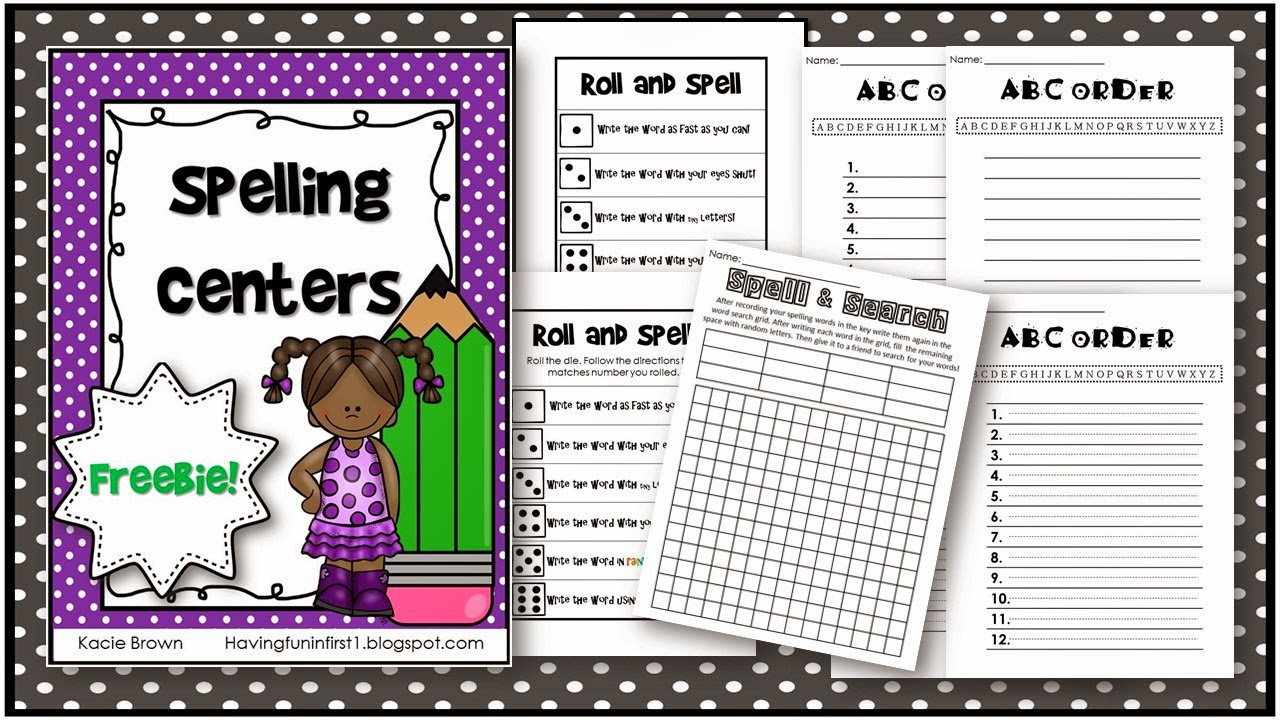 https://www.teacherspayteachers.com/Product/Spelling-Centers-1830745