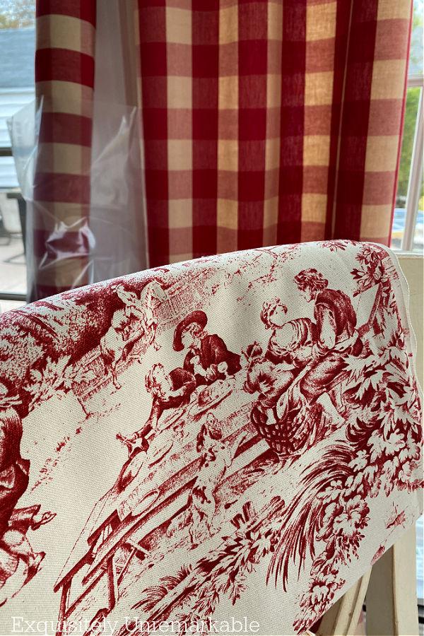 Red Cottage Style Fabrics
