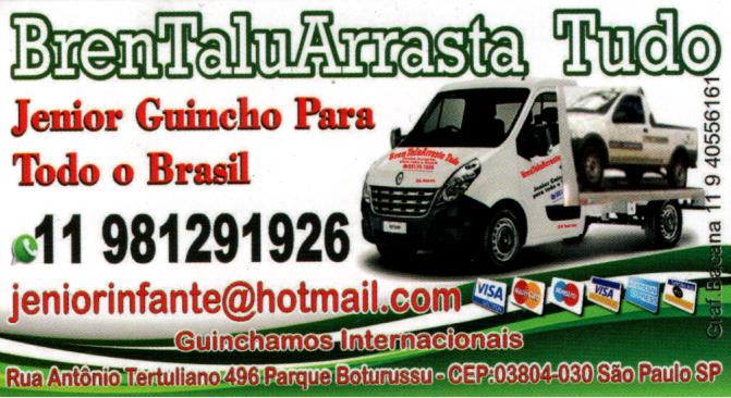 Guincho para todo Brasil - Ermelino Matarazzo e Zona Leste - Jenior Guincho para todo o Brasil