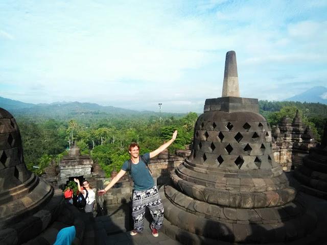 borobudur temple is tourist destination in yogyakarta