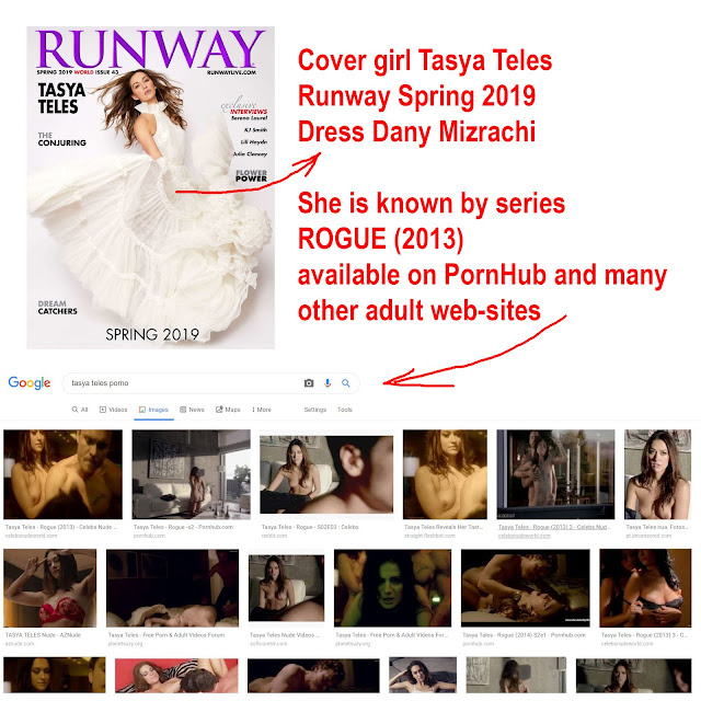 Runway Spring 2019 -Tasya Teles cover girl - dress Dany Mizrachi