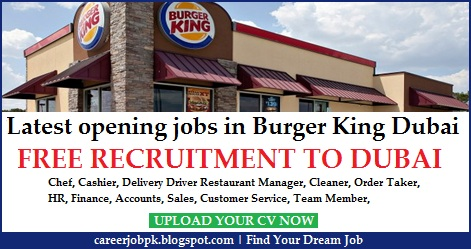 Burger King jobs in Dubai UAE