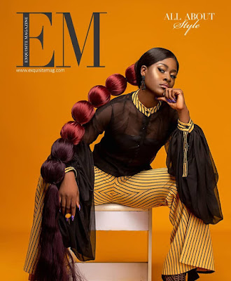 #BBNaija star Alex Unusual Exquisite Magazine cover shoot