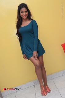Telugu Actress Prasanthi Stills in Green Short Dress at Swachh Hyderabad Cricket Press Meet  0109.JPG
