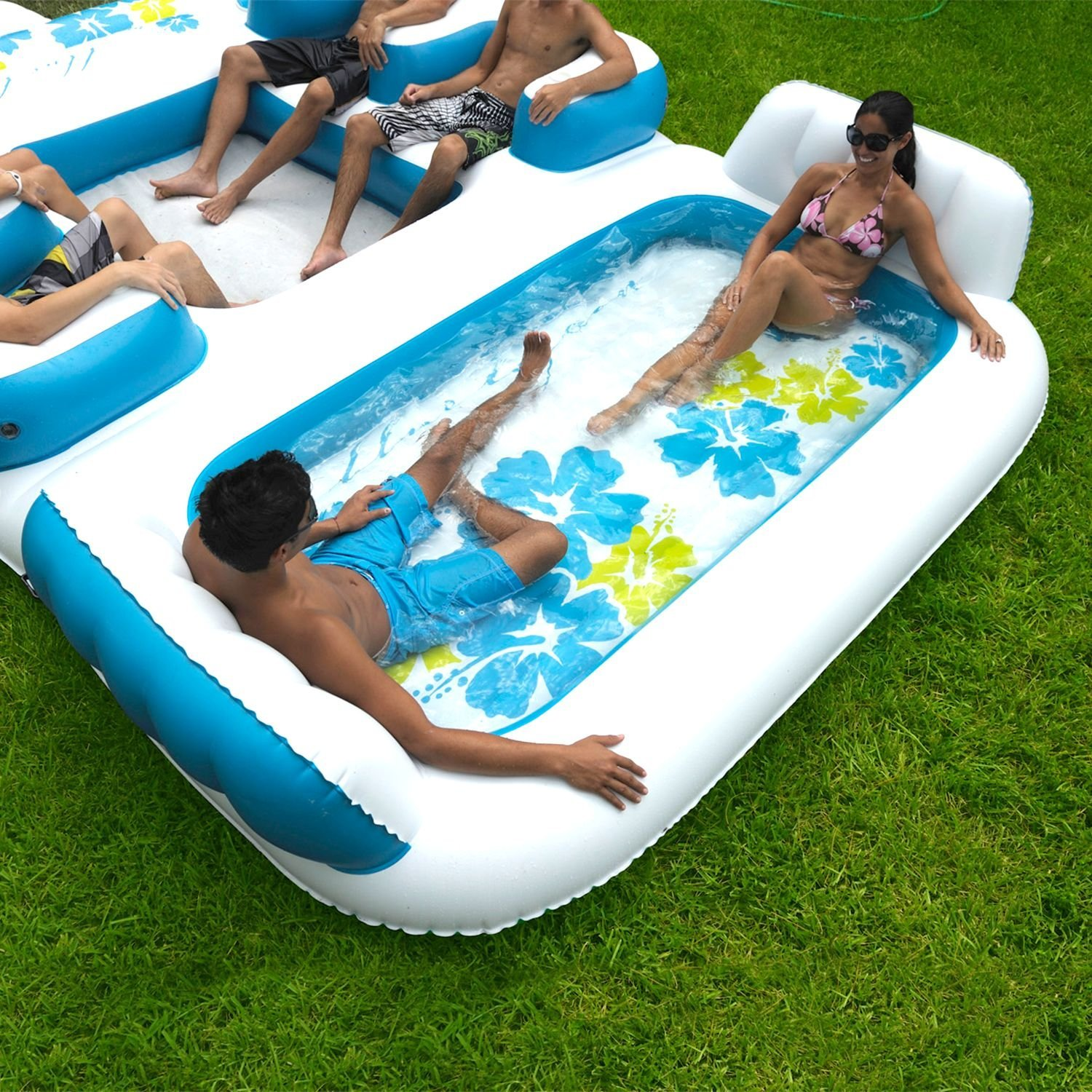 Person Floating Island Raft Inflatable Pool