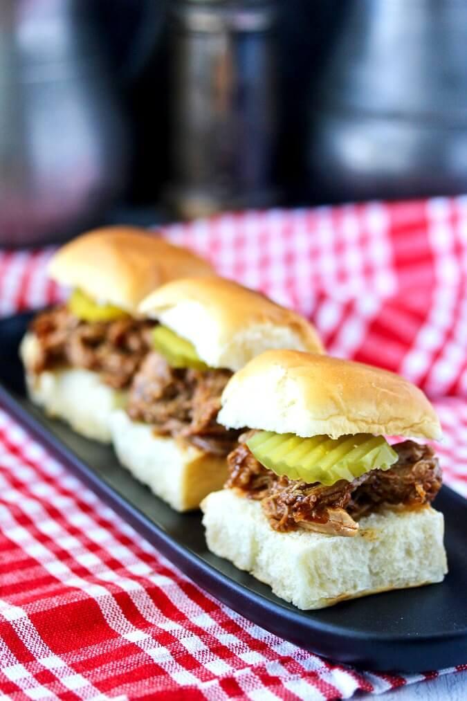 Instant Pot Carolina-Style Pulled Pork sandwiches