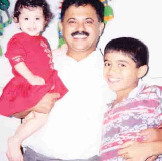 Gayatri Datar With Her Father And Brother
