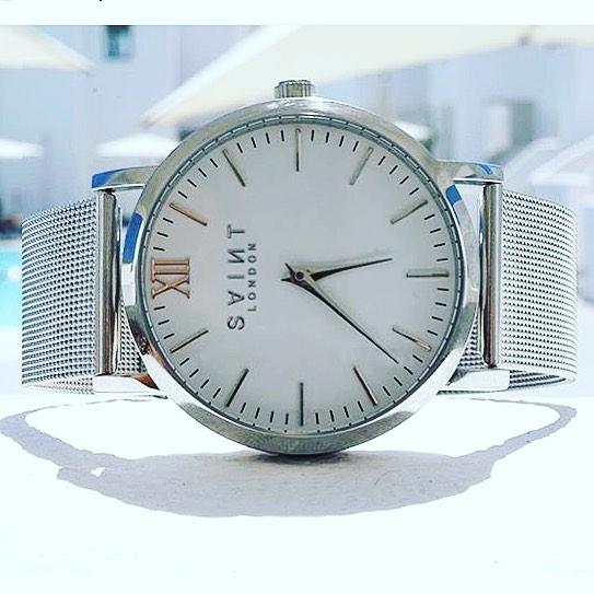 Silver Watch, SaintLondonVXI, 20% off, promo code ADRIANASTYLE, adriana-style.com, blog modowy Puławy, Adriana Style Blog, kupon znizkowy, srebrny zegarek Saint London